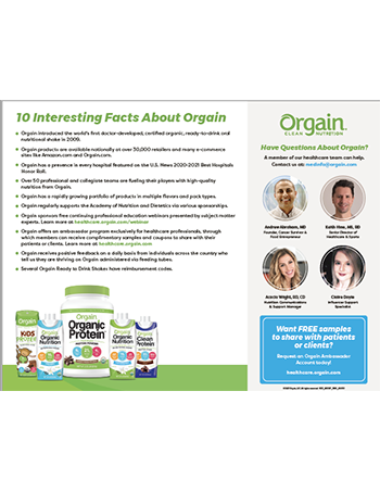 Ten Facts About Orgain